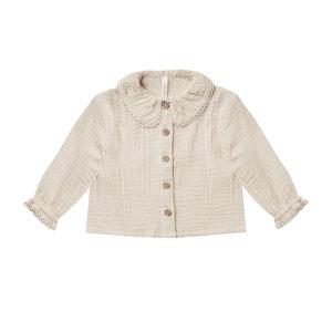 Rylee & Cru Rylee & Cru | Oversized Collar Blouse | Stone