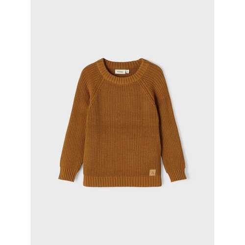 Lil' Atelier Lil' Atelier | Nemlen knitted sweater | Golden Brown