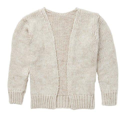 Mingo kids Mingo | Alpaca knitted cardigan | Oatmeal