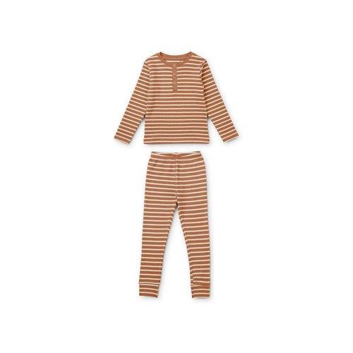 Liewood Liewood | Wilhelm pyjama set | Tuscany Rose stripe
