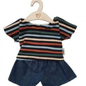 Hollie Hollie | Poppen jeans en -shirt | Stripes