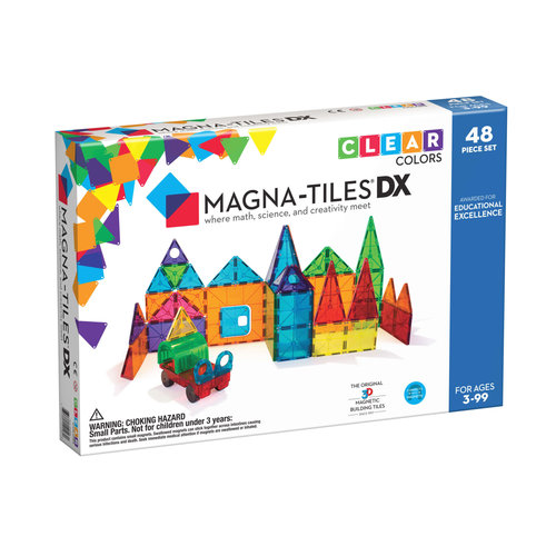 Magna-Tiles | Clear Colors Deluxe set | 48 delig