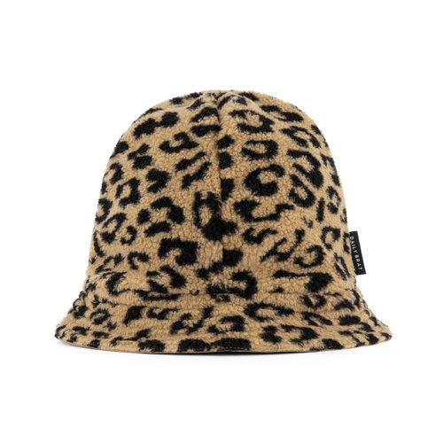 Daily Brat Daily Brat | Fuzzy Teddy Leopard Hat | Hoedje Camel