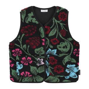 Daily Brat Daily Brat | Fluffy Teddy Flower Vest | Gilet