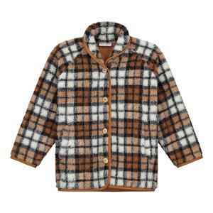 Daily Brat Daily Brat | Mushy Teddy Checked Jacket | Brown