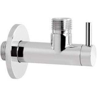 """Hotbath Hotbath Cobber Hoekstopkraan met filter 1/2"""" P2002WH Mat Wit"""