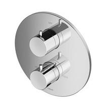Hotbath Douchethermostaat Hotbath Buddy B013EXTGN - Inbouw 1 Stopkraan - Rond Geborsteld Nikkel (Zonder inbouwdeel)