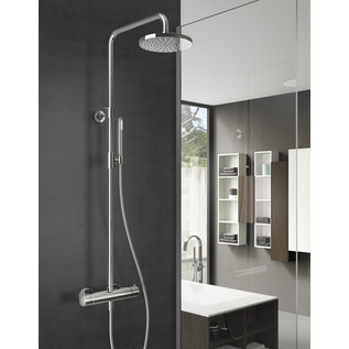 Hotbath Opbouw doucheset SDS1cr met  3 s handdouche 30 cm hoofddouche