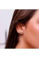 My jewellery Studs 3 steentjes strass