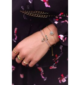 My jewellery Armband labradorite hartje