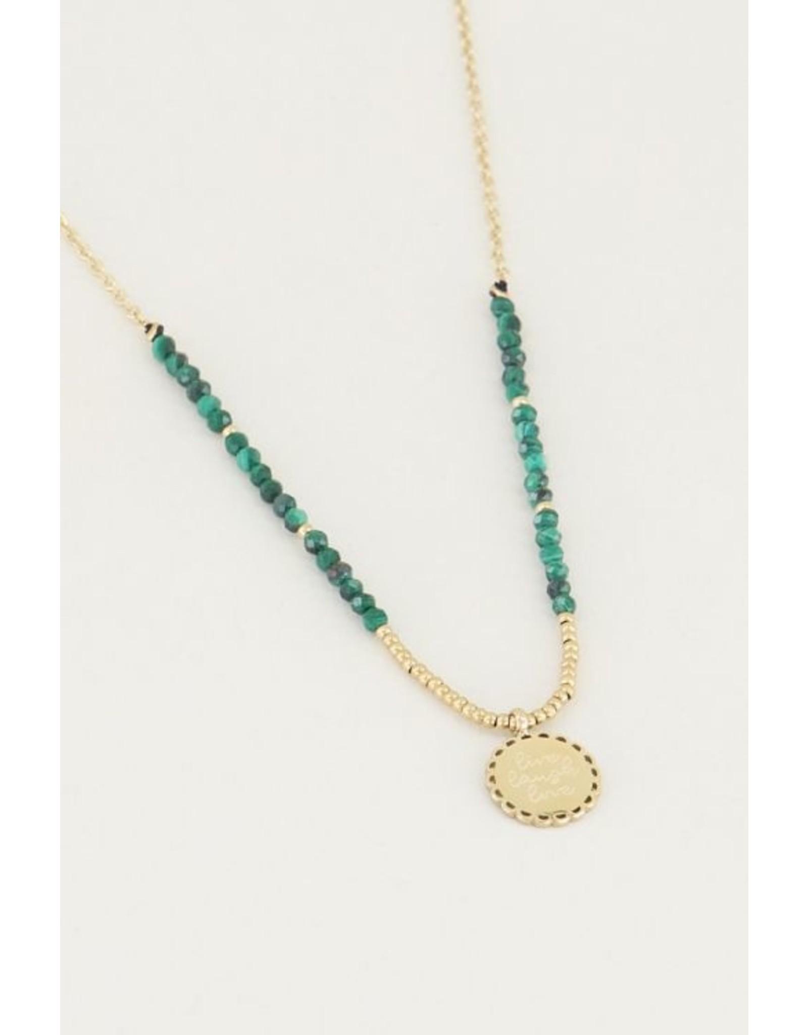 My jewellery Ketting bedel & malachite