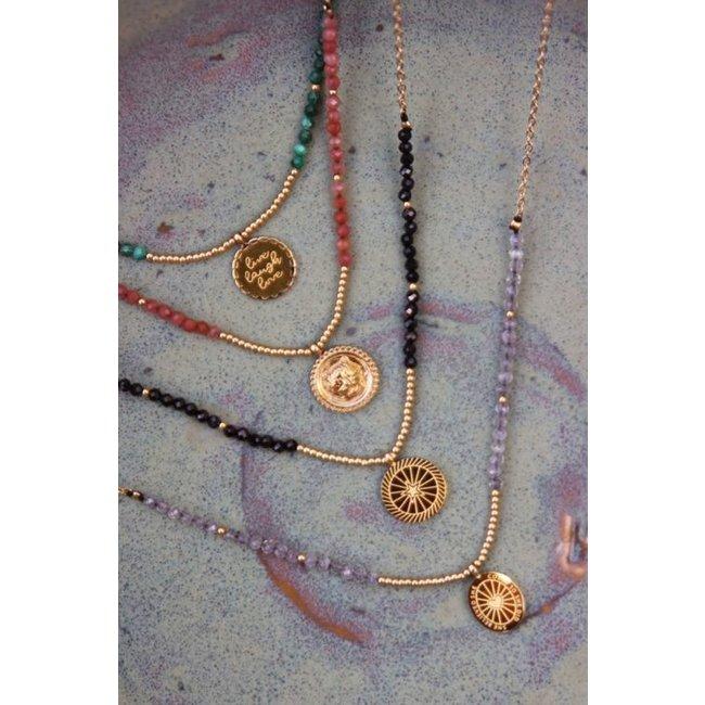 My jewellery Ketting bedel & red jade