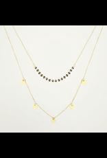 My jewellery Dubbele ketting muntjes & kralen