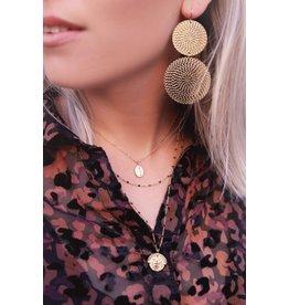 My jewellery driedubbele ketting met muntjes& kralen
