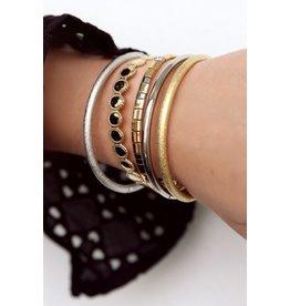 My jewellery Bangle met gedetailleerde ovaal