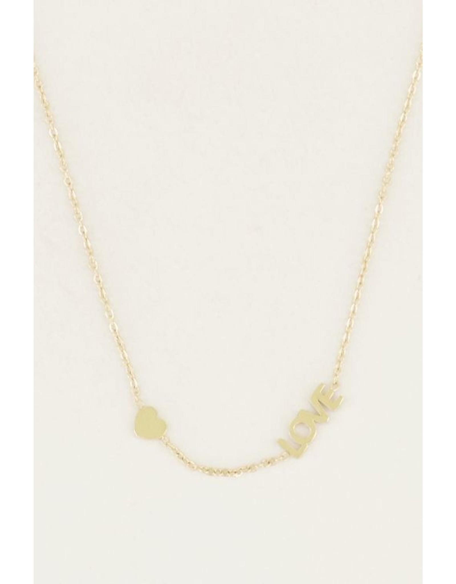 My jewellery Ketting met love & hartje