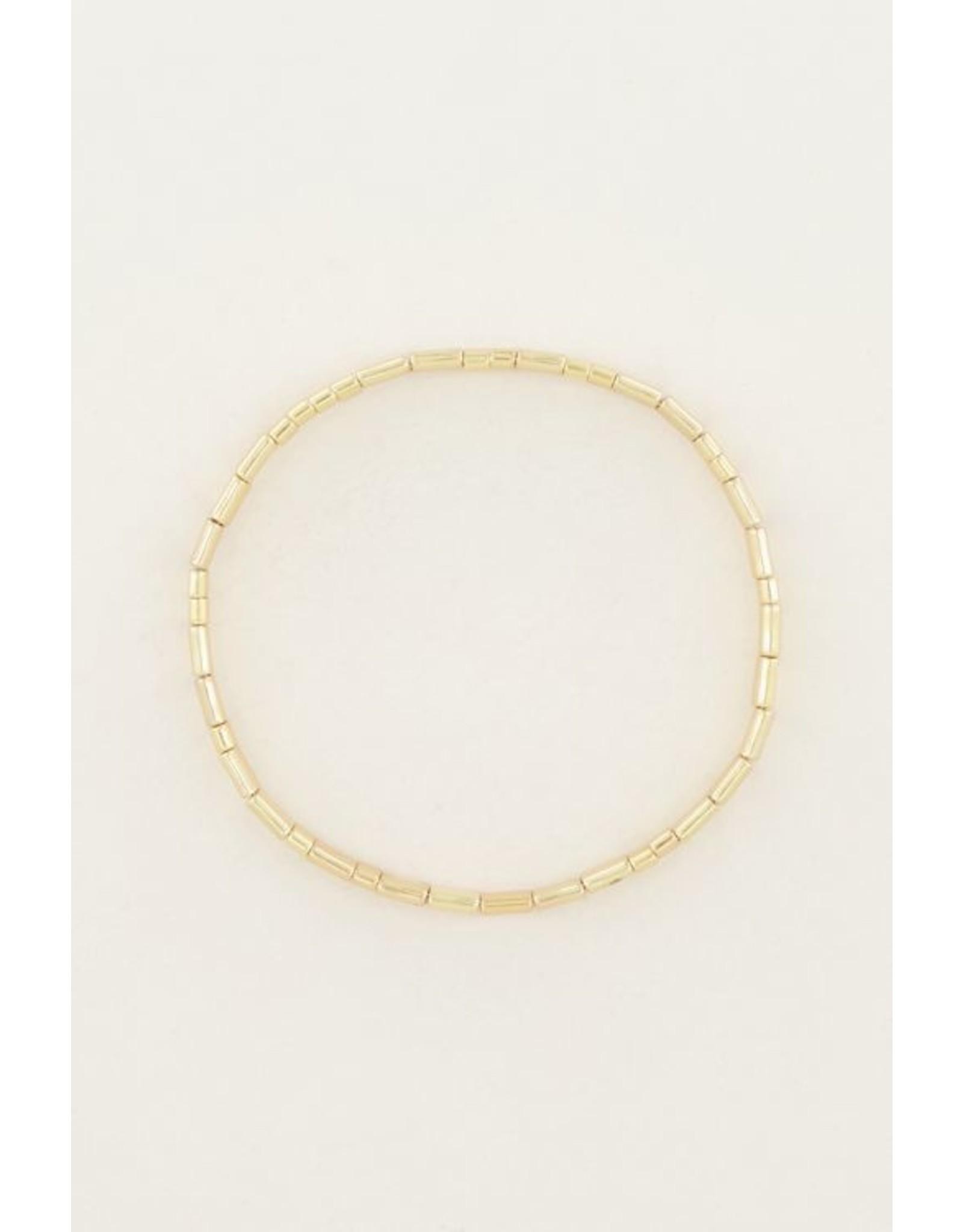My jewellery Armband platte kralen
