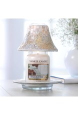 Yankee Candle Gold & Pearl Crackle Large Shade & Tray