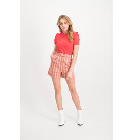 Lofty manner Short Larissa Red