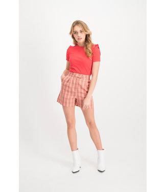 Lofty manner Short Larissa Red
