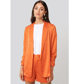 Rut&Circle Kelly Satin Blazer Orange