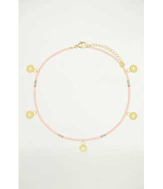 My jewellery Rosé enkelbandje muntjes