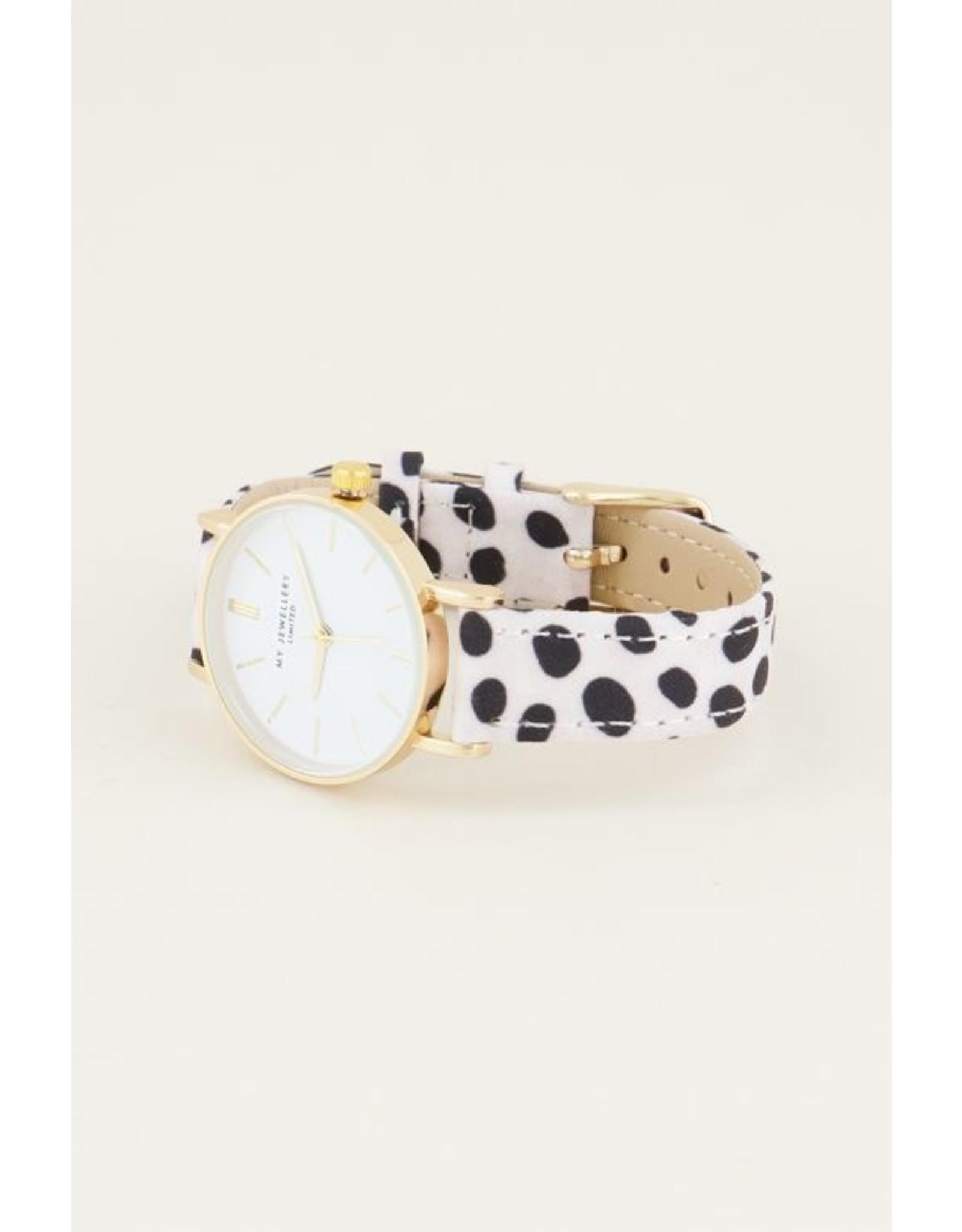 My jewellery Cheetah horloge wit