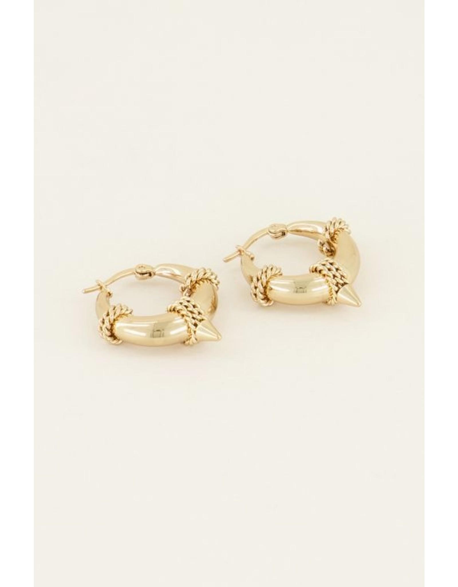 My jewellery Oorringen ronde schakel goud