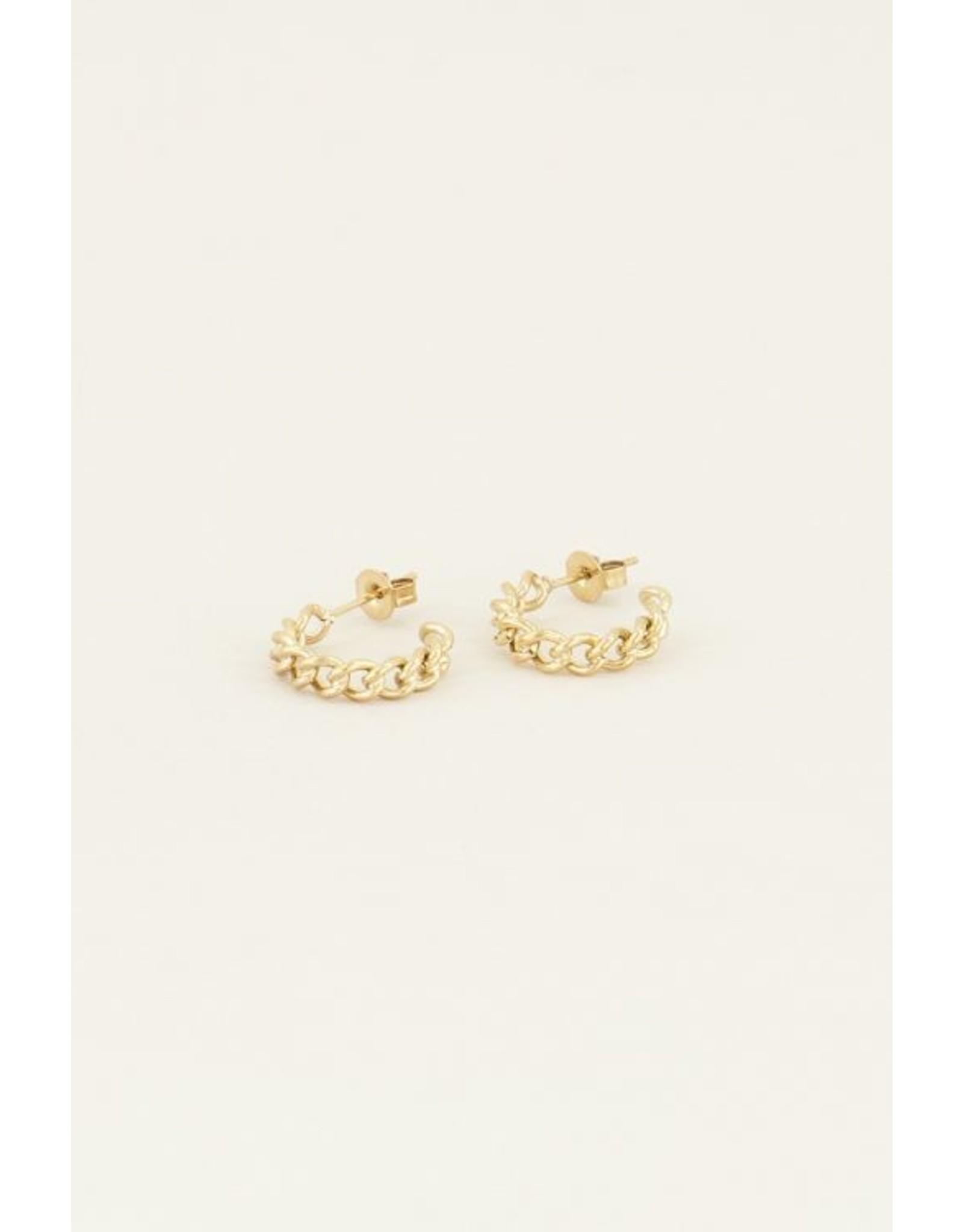 My jewellery Kleine oorringen schakels goud