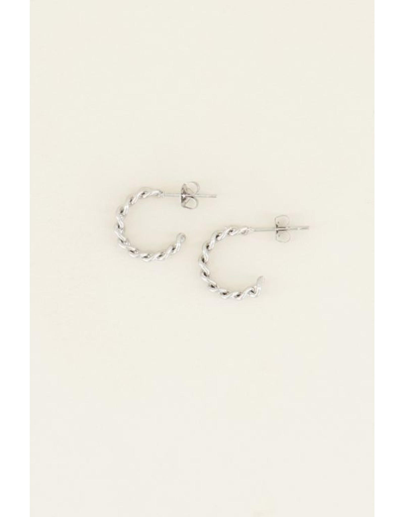 My jewellery Kleine oorringen schakels zilver