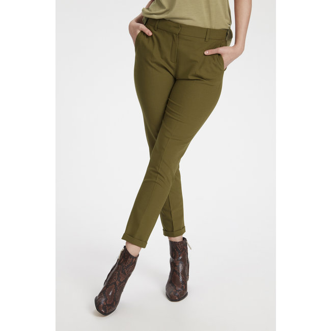 Karen by Simonsen Sydney Cigarette Pants Military Olive