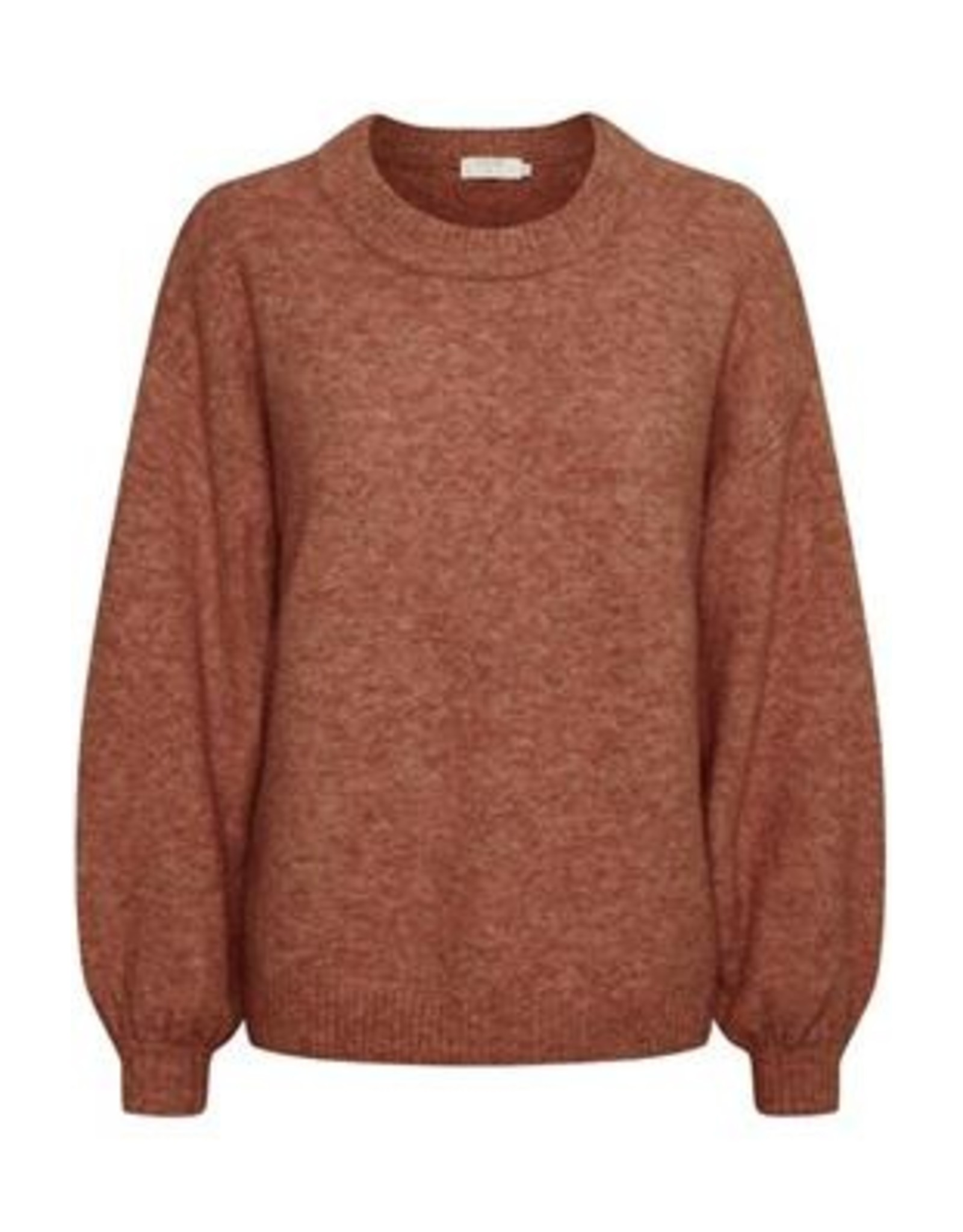 Cream Angha Knit Pullover Etruscan Red