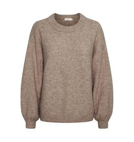 Cream Angha Knit Pullover Taupe Gray