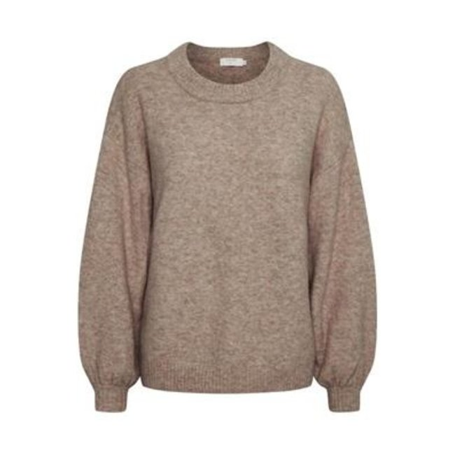 Angha Knit Pullover Taupe Gray