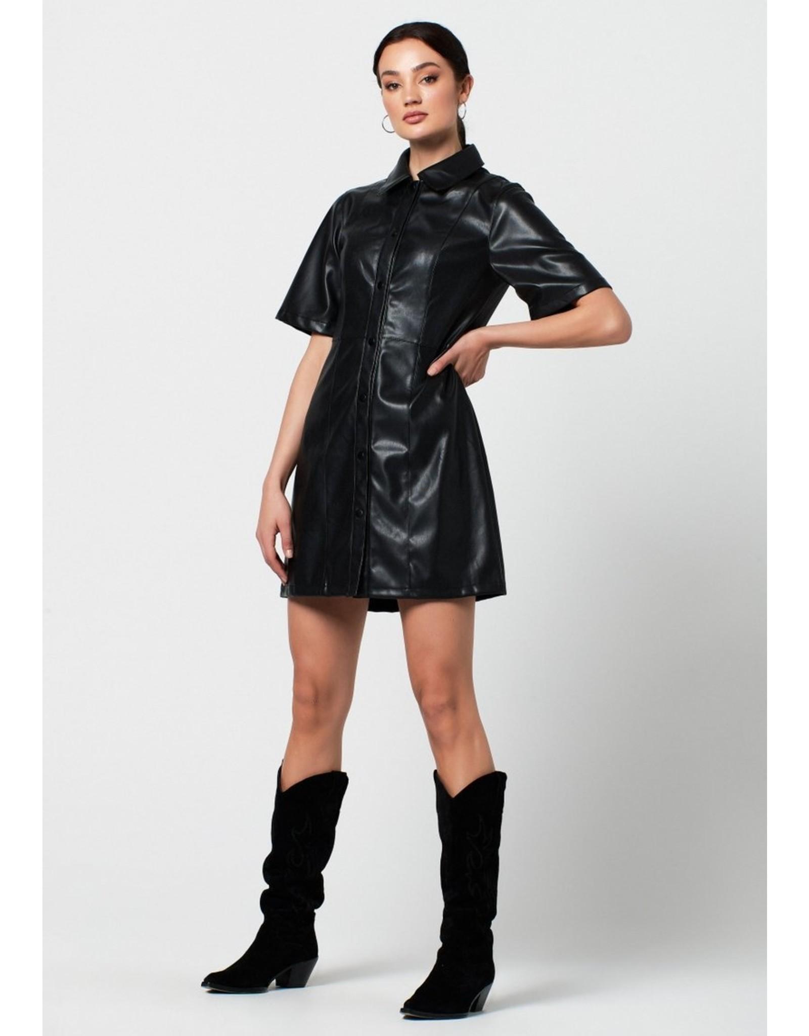 Rut&Circle Petra PU Dress