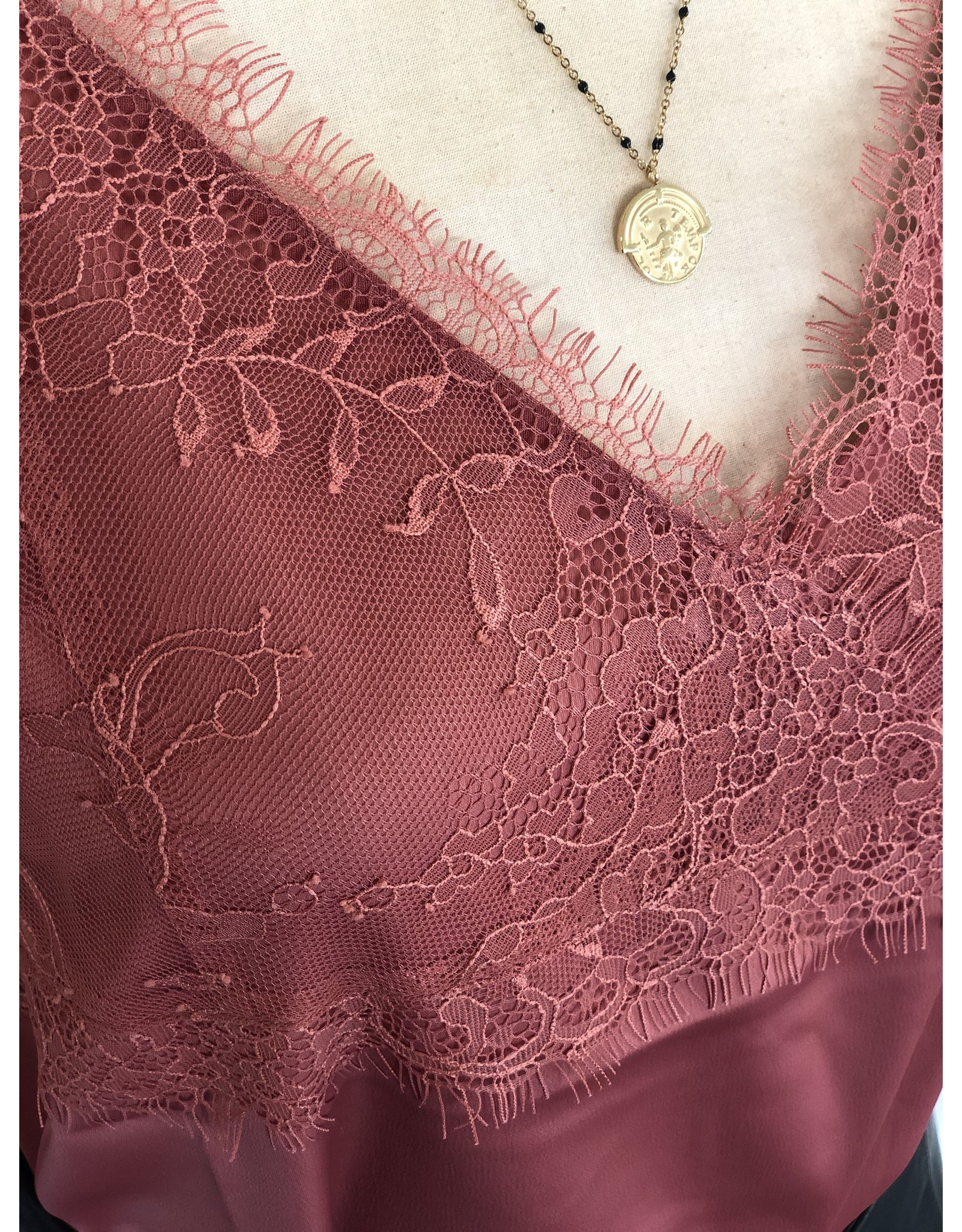 SCHOOL RAG Theina Top Lace Burned Pink