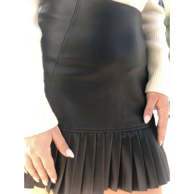 Iris Leather Skirt