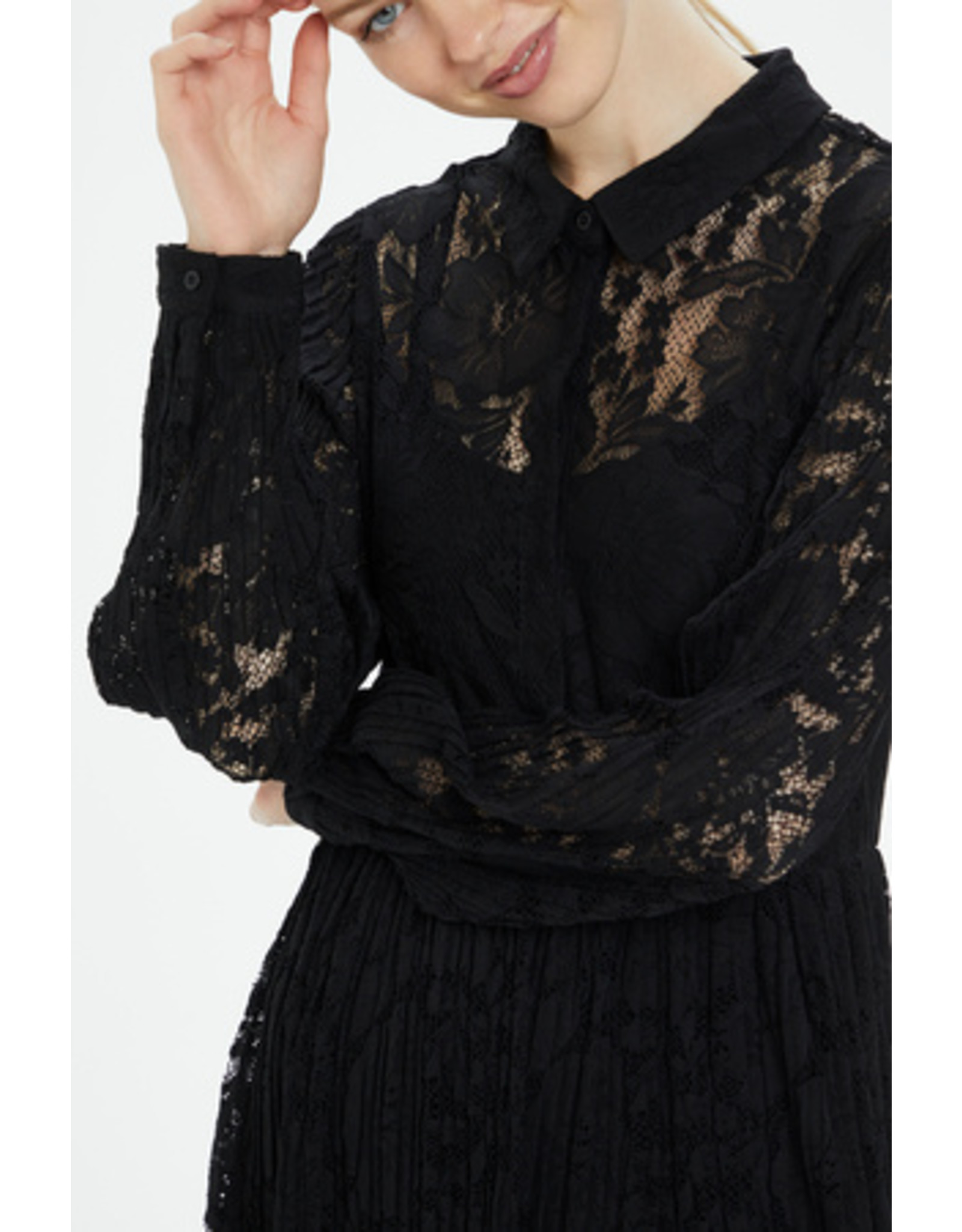 Cream Alicia Lace Dress