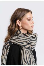 Rut&Circle Zebra Jacquard Scarf