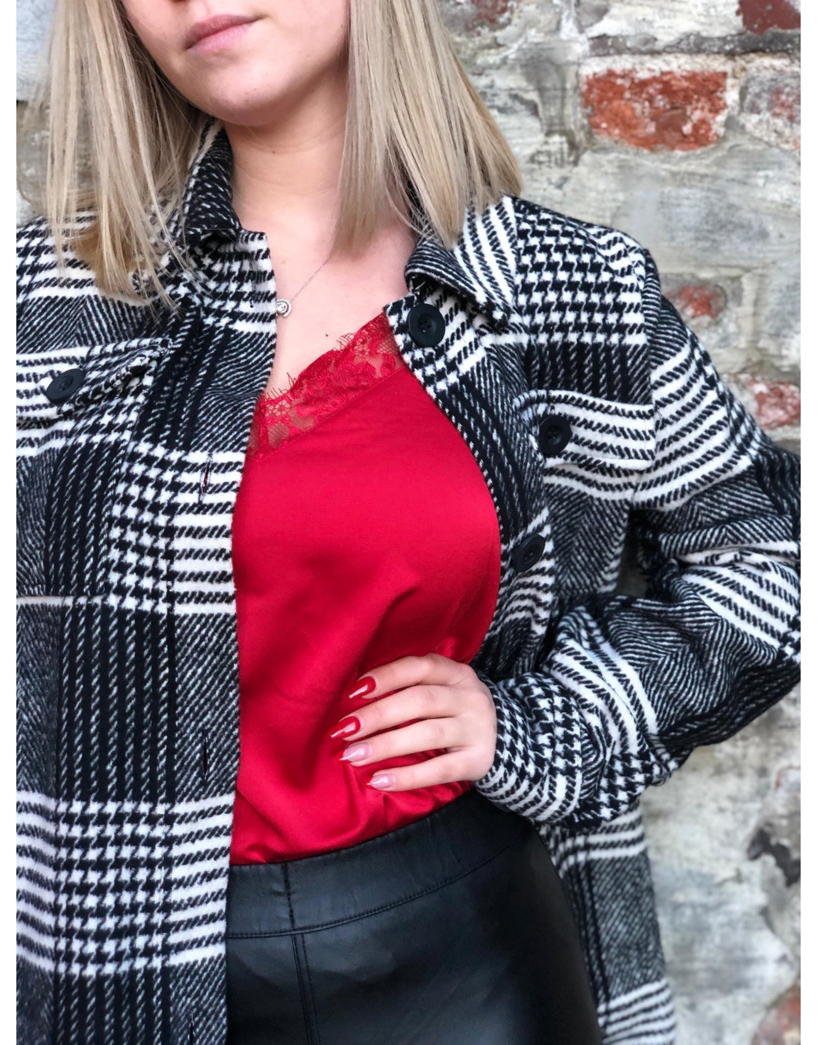 Rut&Circle Tina Singlet Lace Red