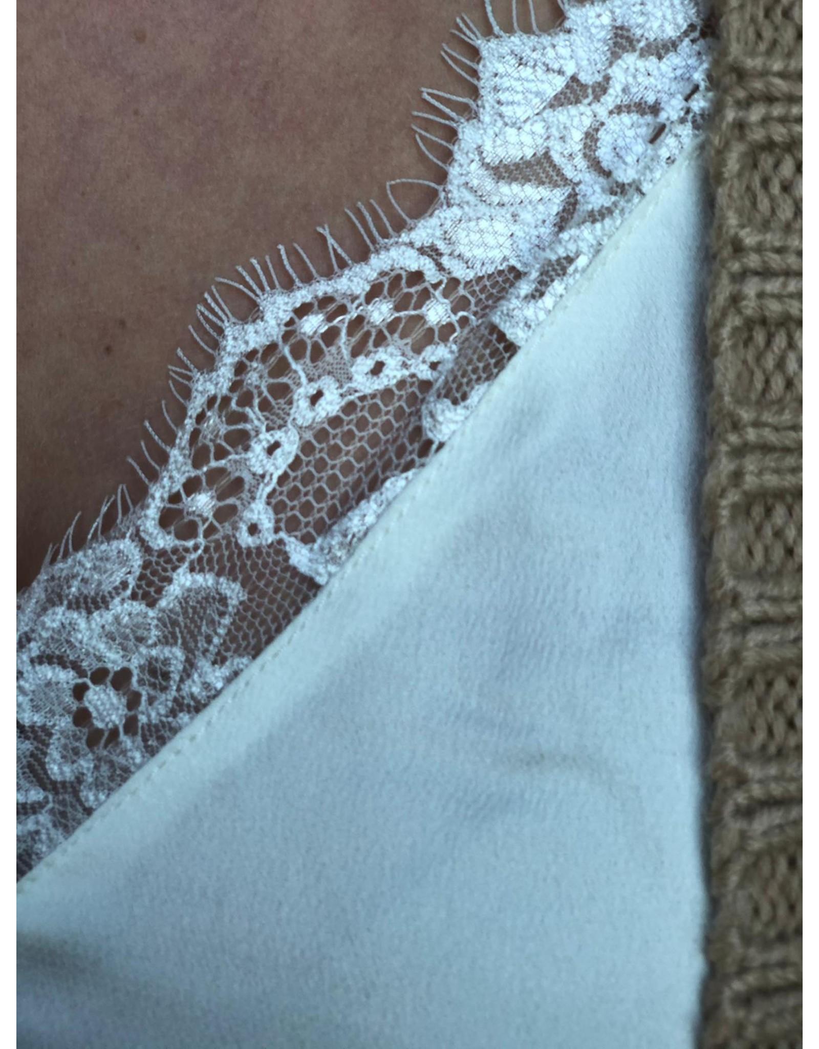 Rut&Circle Tina Lace Singlet Creme White