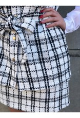 Rut&Circle Alicia Skirt White/Black Check