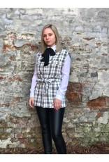 Rut&Circle Alicia Vest White/Black Check