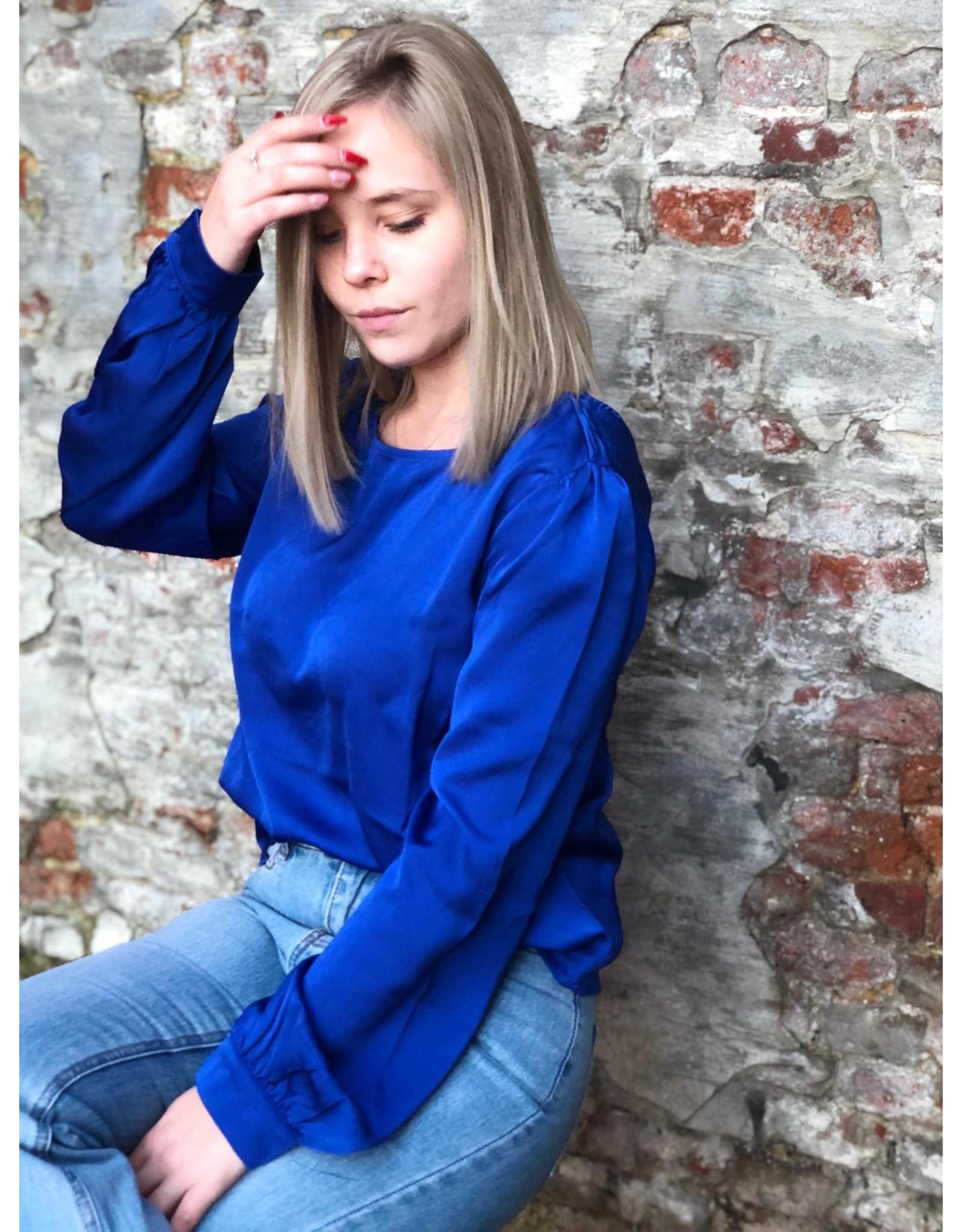 Rut&Circle Rita Blouse Sharp Blue