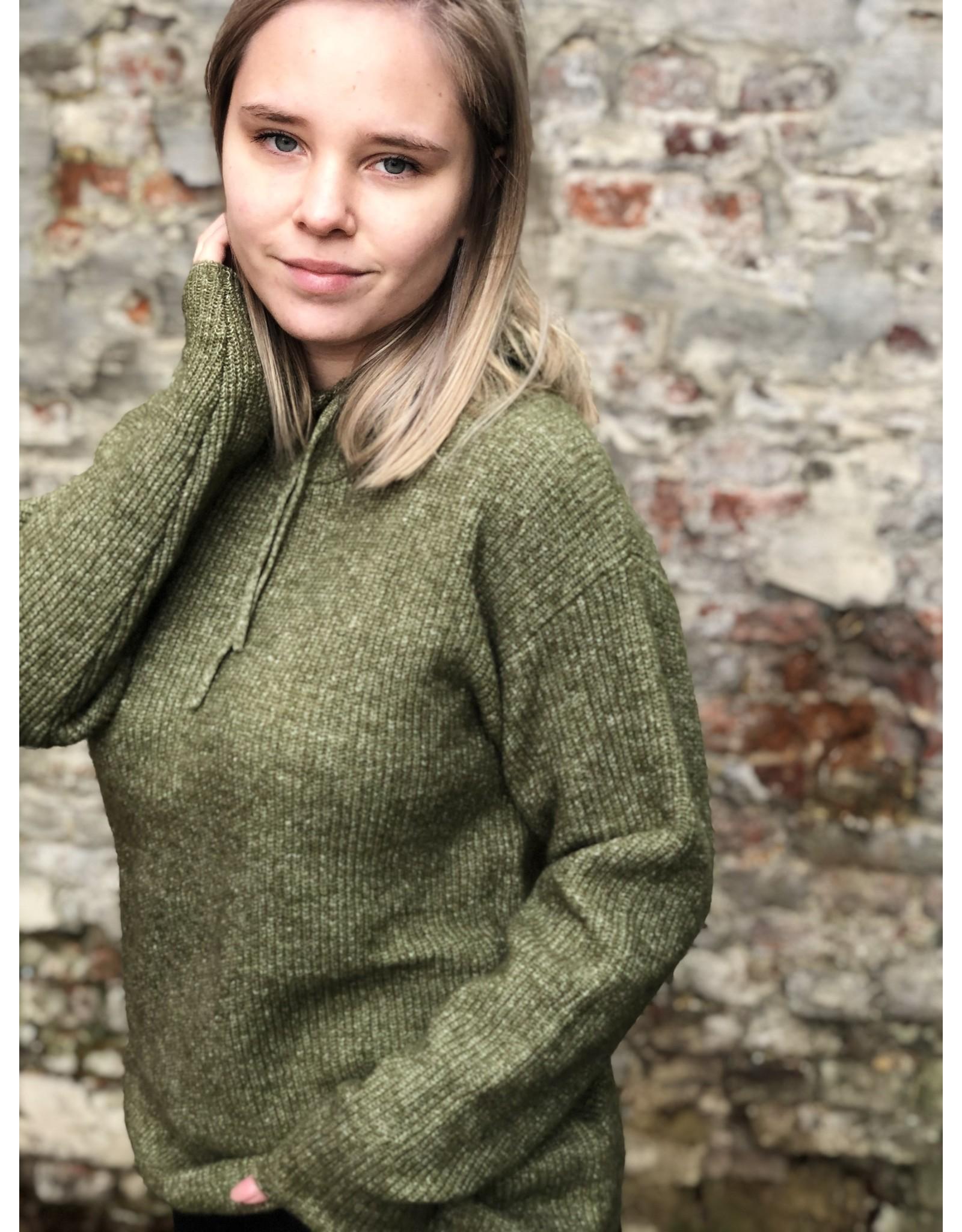 Kaffe Marissa Knit Pullover Capulet Olive