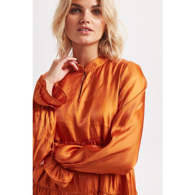 Pang Dress Orange Rust
