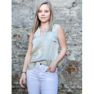 Cream Cecilie Top Desert Sage