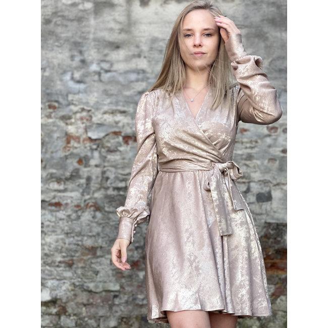 Beige Gold Dress