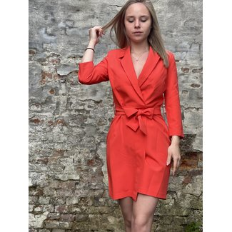 YentlK Red Blazer Dress