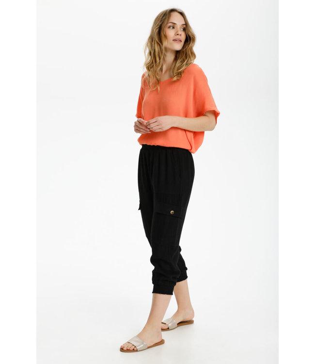 Liny Capri Pants Black
